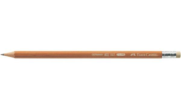 FABER-CASTELL Bleistift 1117, sechseckig, Härtegrad: B