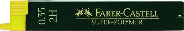 Feinmine SUPER-POLYMER, 0,3/0,35 mm, HB, tiefschwarz, 12...