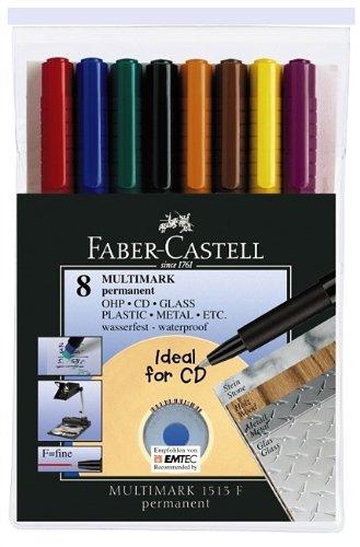 FABER-CASTELL Permanent-Marker MULTIMARK F, 8er Etui