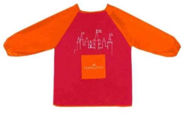 FABER CASTELL Malschürze rot/orange