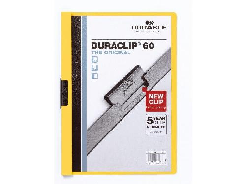 #25xDURABLE Klemmhefter DURACLIP ORIGINAL 60, DIN A4, gelb