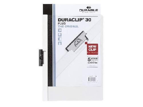 DURABLE Klemmmappe Duraclip A4 weiß