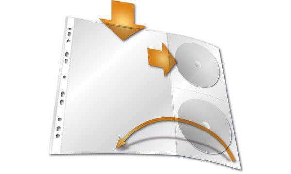 DURABLE Prospekthülle für CDs, A4, mit Seitenklappe, PP