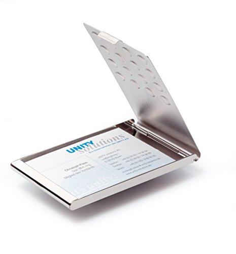 DURABLE Visitenkarten-Etui BUSINESS CARD BOX CHROME, silber