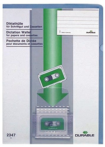 #20xDURABLE Diktathüllen, DIN A4, aus Kunststoff, blau