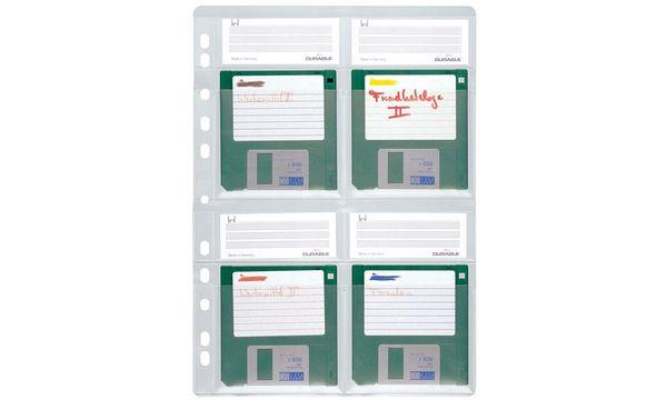 DURABLE Disketten-Hülle, für 4 x 3,5 Disketten, DIN A4