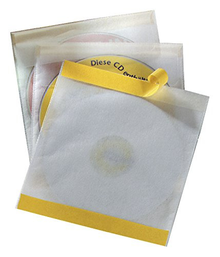 DURABLE Selbstklebetaschen CD/DVD FIX, PP, transparent