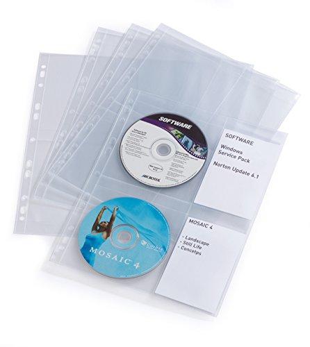 DURABLE CD-/DVD-Hülle COVER LIGHT M, für 4 CDs, PP, DIN A4