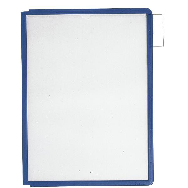 #5xDURABLE Sichttafel SHERPA, DIN A4, Rahmen: dunkelblau