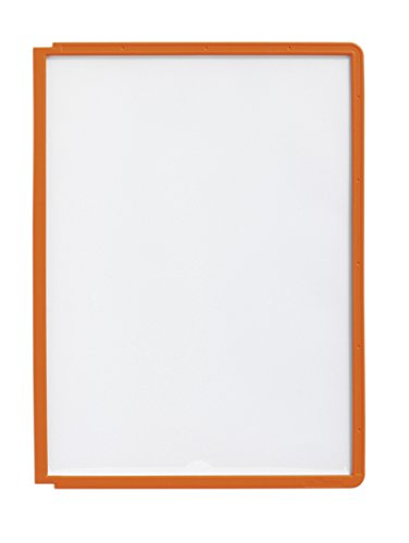 #5xDURABLE Sichttafel SHERPA, DIN A4, Rahmen: orange