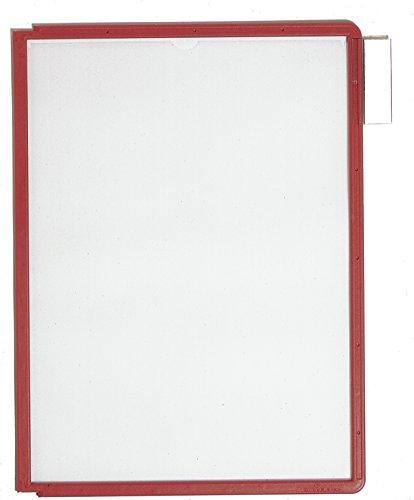 #5xDURABLE Sichttafel SHERPA, DIN A4, Rahmen: rot