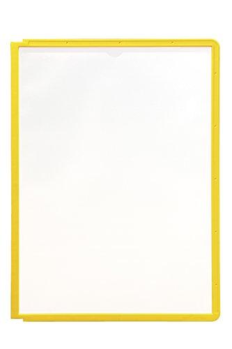 #5xDURABLE Sichttafel SHERPA, DIN A4, Rahmen: gelb