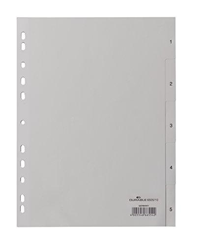 DURABLE Kunststoff-Register, Zahlen, A4, 5-teilig, 1 - 5
