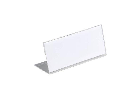 DURABLE Tisch-Namensschild, L-Form, aus Acryl, transparent