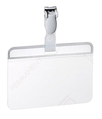 DURABLE Laminier-Namensschild, mit Clip, 90 x 54 mm