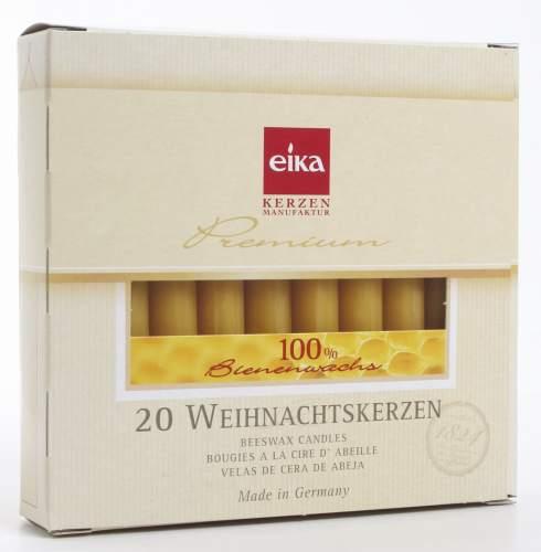 BOLSIUS Baumkerze 100%Bienenwachs naturgelb 20 Stück H10...