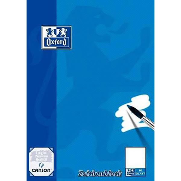 Oxford Zeichenblock, DIN A4, blanko, 120 g/qm