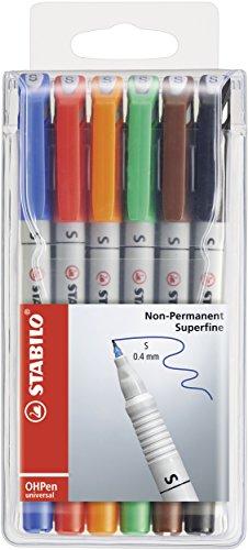 STABILO Nonpermanent-Marker OHPen universal, 6er Etui