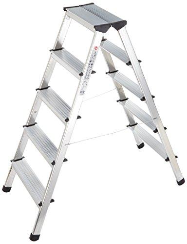Hailo Alu-Doppelstufenleiter D60 StandardLine, 2 x 5 Stufen