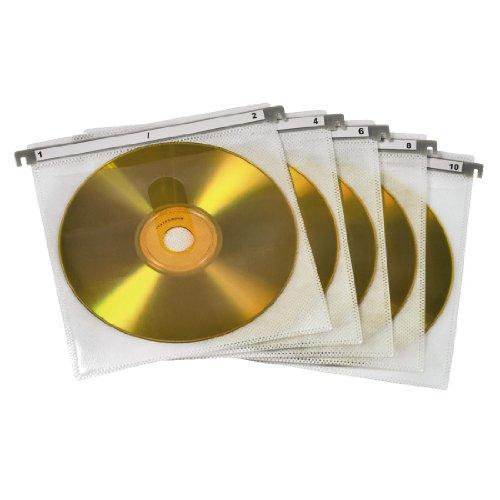 hama CD-/DVD-Hülle, für 2 CDs/DVDs, weiß