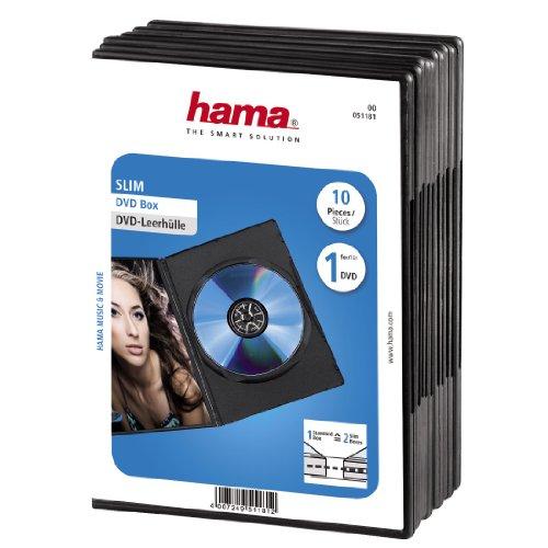 hama DVD-Leerhülle Slim, Slim Case, schwarz