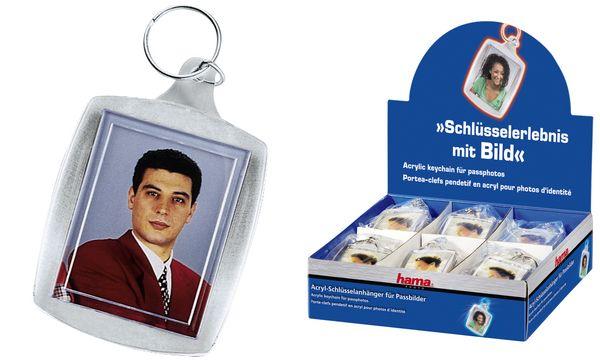#24xhama Schlüsselanhänger für Minifotos, im Theken-Display