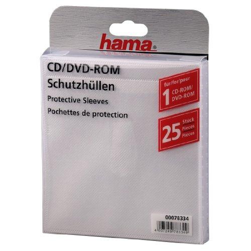 hama CD-/DVD-Hülle, für 1 CD/DVD, PP, selbstklebend