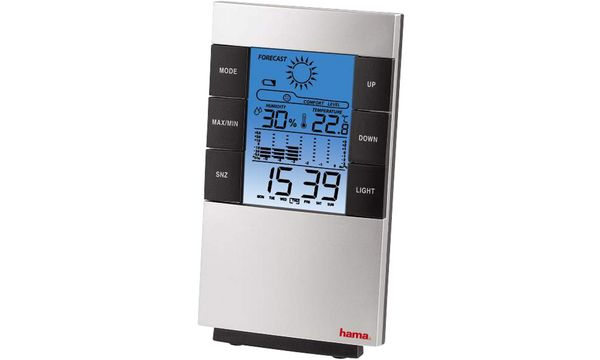hama LCD-Thermo-/Hygrometer TH-200, anthrazit / silber