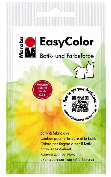 Marabu Batik- und Färbefarbe EasyColor, 25 g, scharlac...