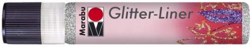 Marabu Glitzerfarbe Glitter-Liner, glitter-silber, 25 ml