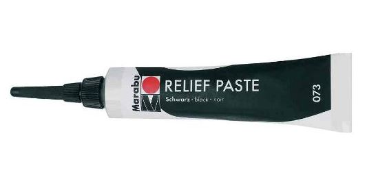 Marabu Reliefpaste, schwarz, 20 ml in Tube