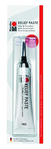 Marabu Reliefpaste, metallic-silber, 20 ml in Tube