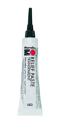 Marabu Reliefpaste, glitter-silber, 20 ml in Tube