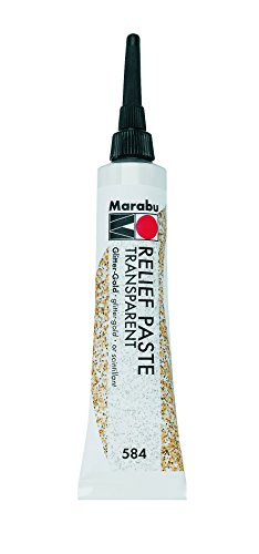 Marabu Reliefpaste, glitter-gold, 20 ml in Tube