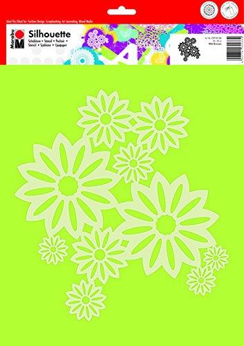 MARABU Schablone Wild Blossoms