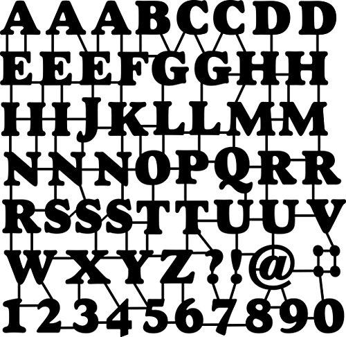 MARABU Schablone ABC & Numbers
