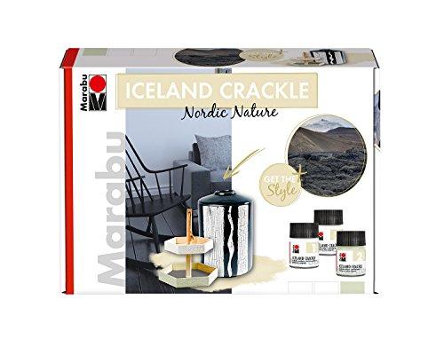 Marabu Krakelierfarbe ICELAND CRACKLE, Set Nordic Nature