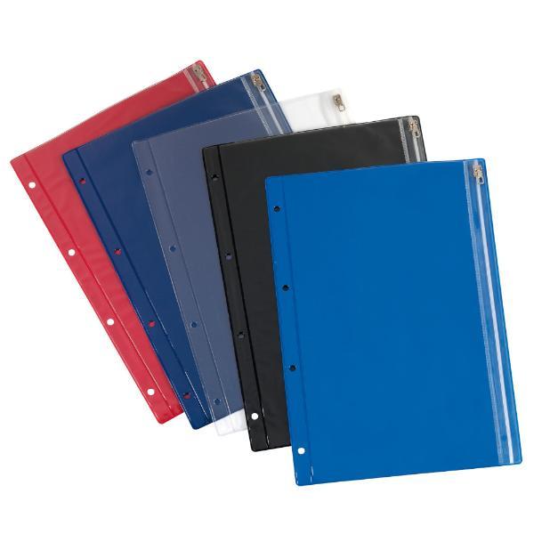 #10xherlitz Reißverschlusstasche, PVC, farbig sortiert