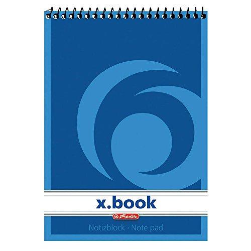 herlitz Spiralnotizblock x.book, DIN A7, 50 Blatt, liniert
