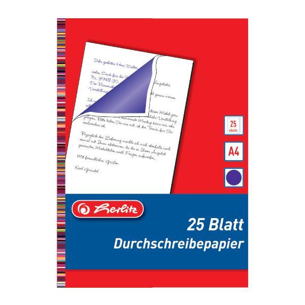 herlitz Durchschreibpapier, DIN A4, Inhalt: 25 Blatt
