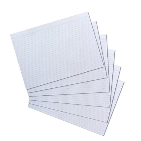 herlitz Karteikarten, DIN A4, liniert, weiß