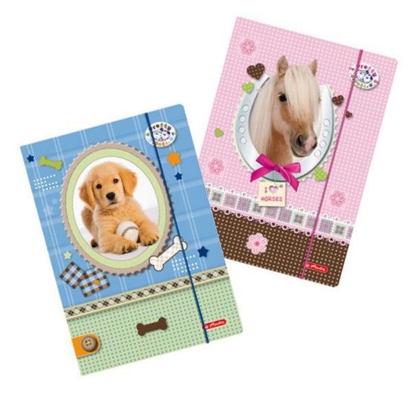 herlitz Zeichnungsmappe Pretty Pets, DIN A4