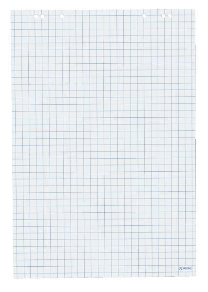 #5xherlitz Flipchart-Block, 20 Blatt, kariert, 680 x 990 mm