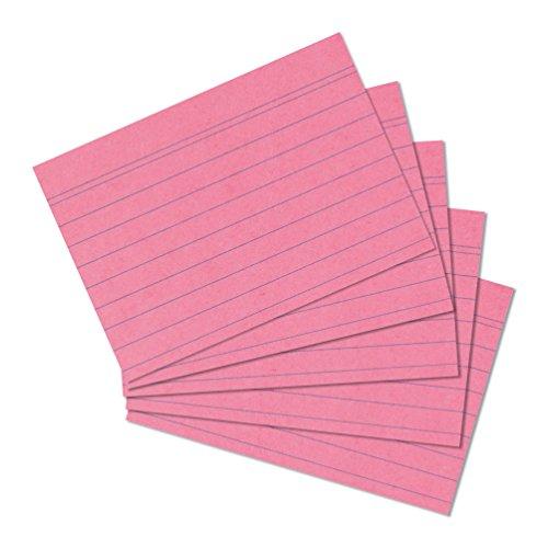 herlitz Karteikarten, DIN A5, liniert, rosa