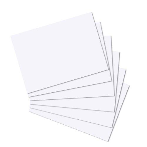 herlitz Karteikarten, DIN A4, blanko, weiß