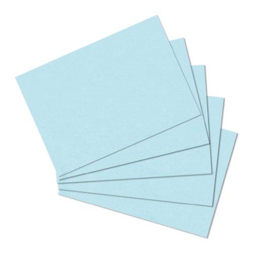 herlitz Karteikarten, DIN A5, blanko, blau