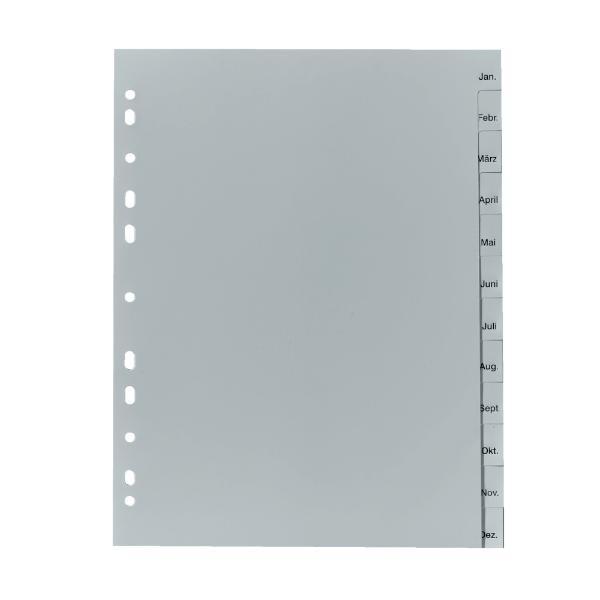herlitz Kunststoff-Register, Monate, A4, 12-teilig
