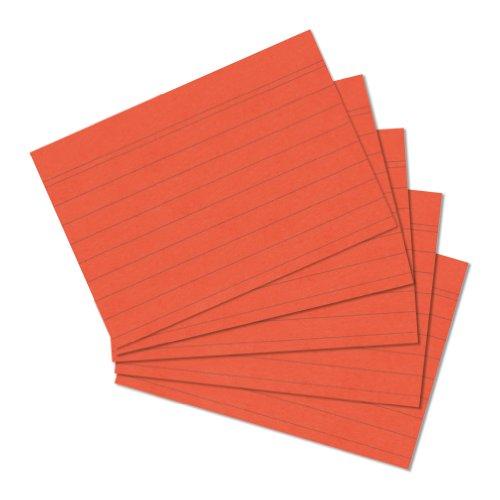 herlitz Karteikarten, DIN A5, liniert, orange