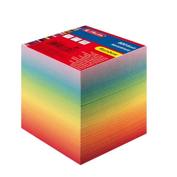 herlitz Zettelklotz, 90 x 90 mm, farbig, 80 g/qm