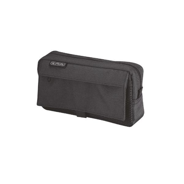 herlitz Stifte-Tasche mit Netztasche, aus Polyester, sch...